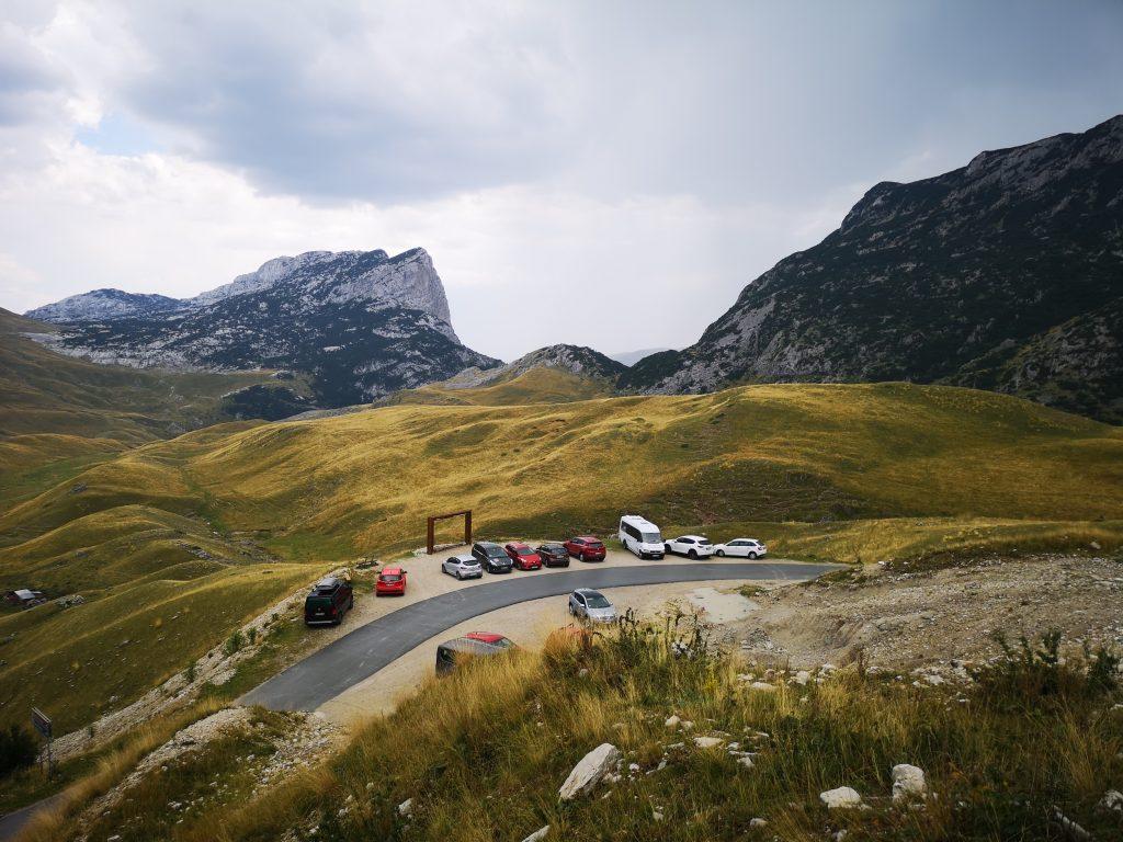 Punkt widokowy na szczyt Sedlena Greda (2227 m n.p.m.) przy trasie P14.